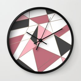 Abstraction . 4 geometric pattern Wall Clock