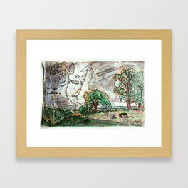 CALIFORNIA SPRING - ALBERT BIERSTADT - DANOR REMASTER Framed Art Print