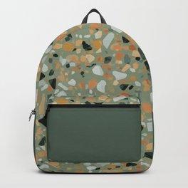 Terrazzo Texture Military Green #4 Backpack