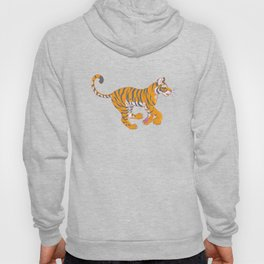Running Bengal Tiger Hoody