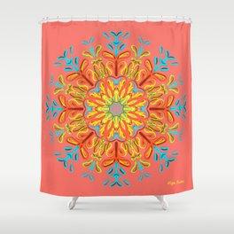 Gracias a la Vida (Coral) Shower Curtain