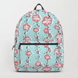 Watermelon Rose Wildflower Backpack
