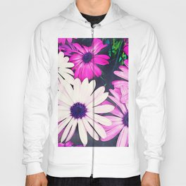 251 - Pink and White Flowers Hoody