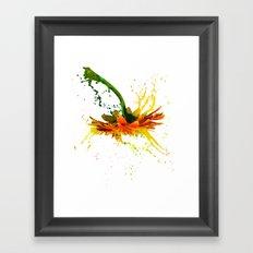 Liquid Daisy Framed Art Print