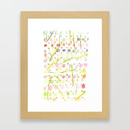 170404 Steady Pacing 5  |Modern Watercolor Art | Abstract Watercolors Framed Art Print