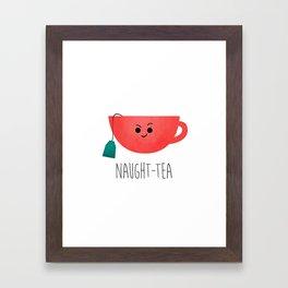 Naught-tea Framed Art Print