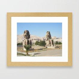 The Clossi of memnon at Luxor, Egypt, 2 Framed Art Print