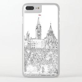 Parliament Hill In Ottawa Clear iPhone Case