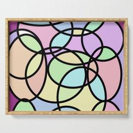 circle of life geometric print design Serving Tray