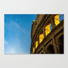 Sunset Over The Roman Colosseum. Canvas Print