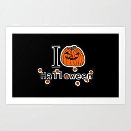 I Love Halloween with Spooky Pumpkins Art Print