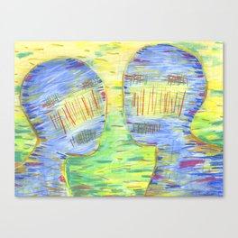 Blue Couple Canvas Print