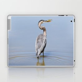 Great Blue Heron Fishing - I Laptop & iPad Skin