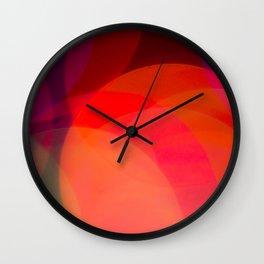 Rainbow Bokeh Circles Wall Clock