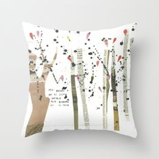 the last forest Throw Pillow