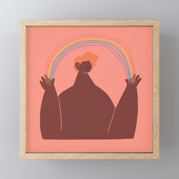 Rainbow Framed Mini Art Print