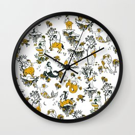 Zodiac Toile Pattern Wall Clock