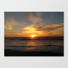 Beach sunsets in Winter Canvas Print