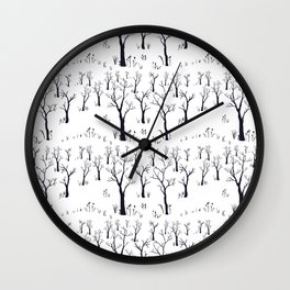 Winter Bare Trees Wall Clock