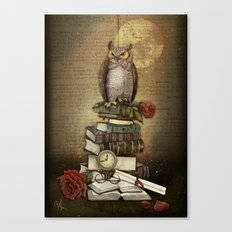 The Bibliophile - (the lover of books) Canvas Print