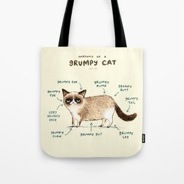 Anatomy of a Grumpy Kitty Tote Bag