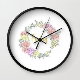 Friday fresh collection golden Wall Clock