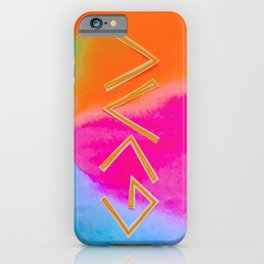 God Is Greater - Tie Dye iPhone Case