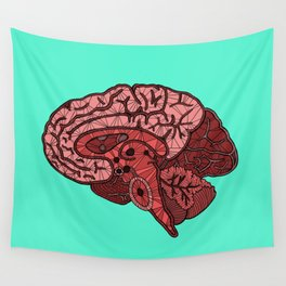 Brain Map Wall Tapestry