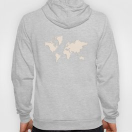 World with no Borders - ivory Hoody