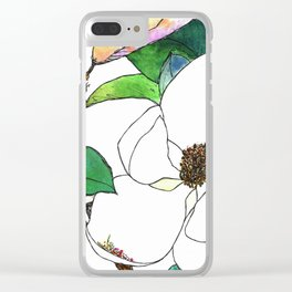 Magnolia Clear iPhone Case