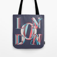 london Tote Bags featuring London by Fimbis