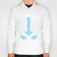 airbender Hoodies featuring The Last Airbender by first a shadow
