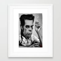 nick cave Framed Art Prints featuring Nick Cave by AndreKoeks
