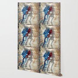Vesalius mourning skeleton Wallpaper