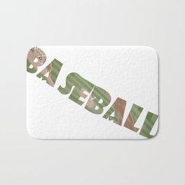 Baseball Typography Bath Mat