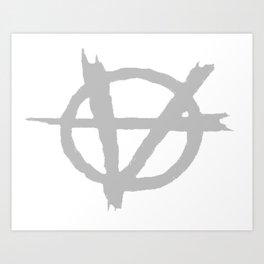 Vagenda Logo - Basic Silver Art Print
