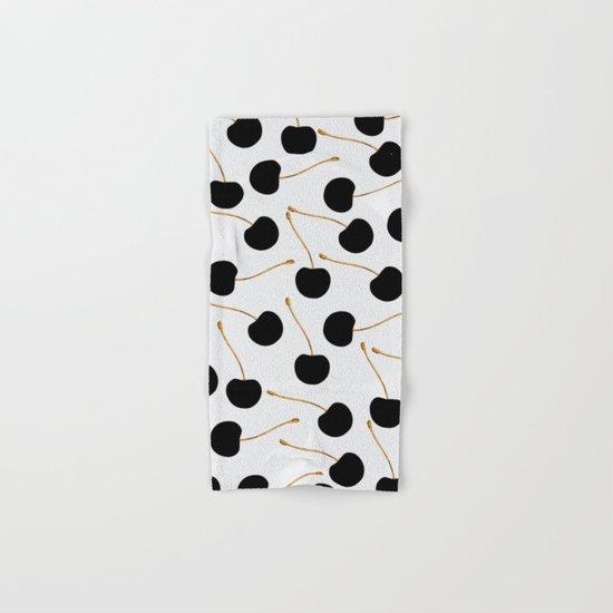 Black Cherries Hand & Bath Towel