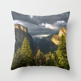 Tunnel View 1 Throw Pillow