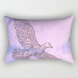 seagull in the sky Rectangular Pillow