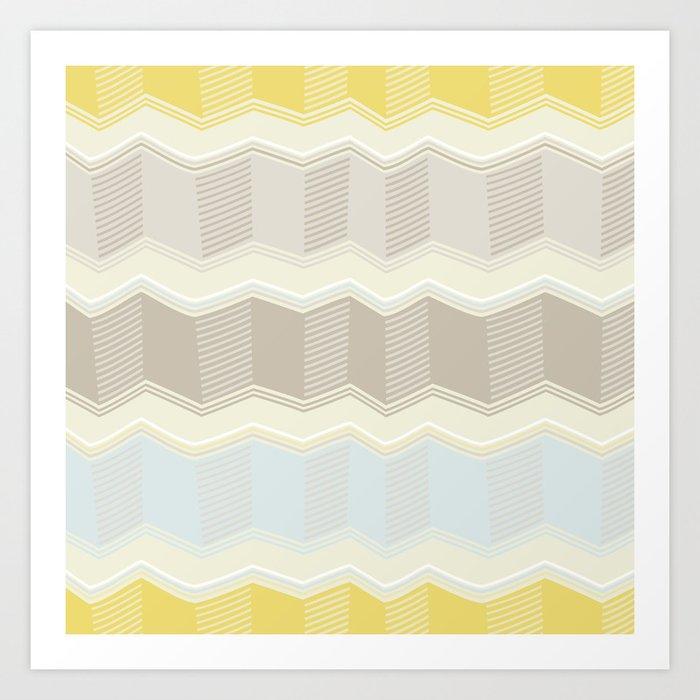 Abstract Zigzag Art Print