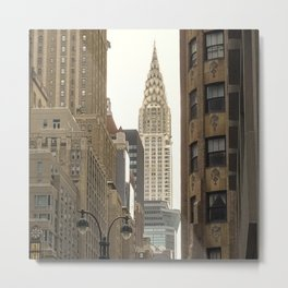 On my way to The Chrysler building Metal Print