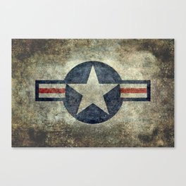 US Airforce style Roundel insignia V2 Canvas Print