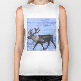 Reindeer - by Fanitsa Petrou Biker Tank