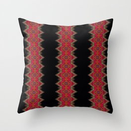 Elegant wavy pink stripes on black Throw Pillow