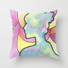 Galaxy Girl Throw Pillow