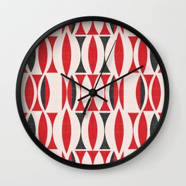Seventies in Cherry Red (little) Wall Clock