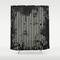 stripe Shower Curtains featuring Stripe by Ronda Bröc