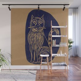 scared cat Wall Mural