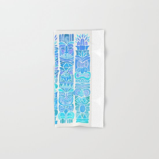 Tiki Totems – Turquoise Palette Hand & Bath Towel