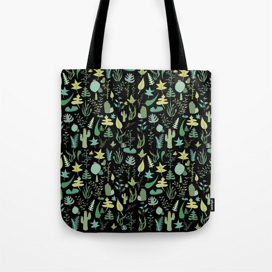 black green garden Tote Bag